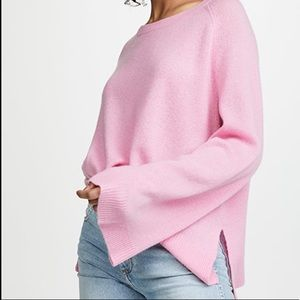 COPY - 360 Cashmere Dara Pink Bell Sleeve Sweater…